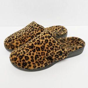 Vionic Gemma Leopard Print Slippers Size 6